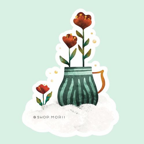 Green Tea Garden Sticker (@kristinheldtart)