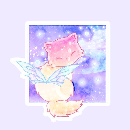 Sunset Cat Sticker (@winterando)