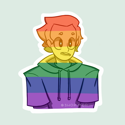 Pride/Gay Flag Sticker - Full Color (@chi_teetee)