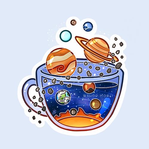 Solar System Tea Sticker (@heysoleilart)