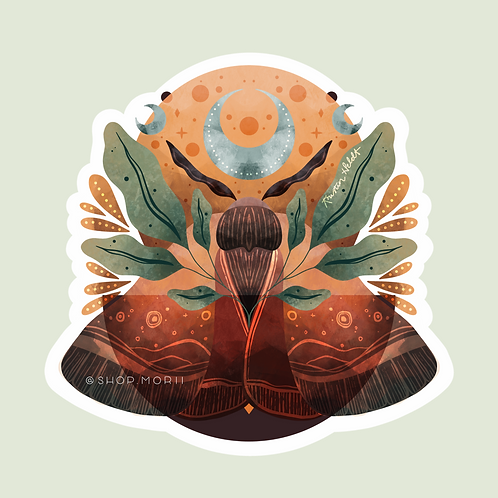 Luna Moth Sticker (@kristinheldtart)