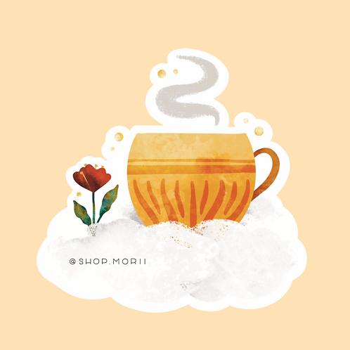 Golden Tea Sticker (@kristinheldtart)
