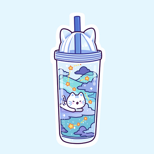 Biru Bottle Sticker (@leendoodles)