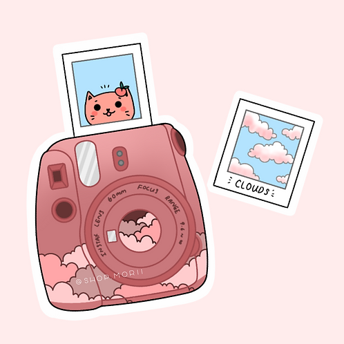 Cloudy Polaroid Sticker (@peaxhy_art)