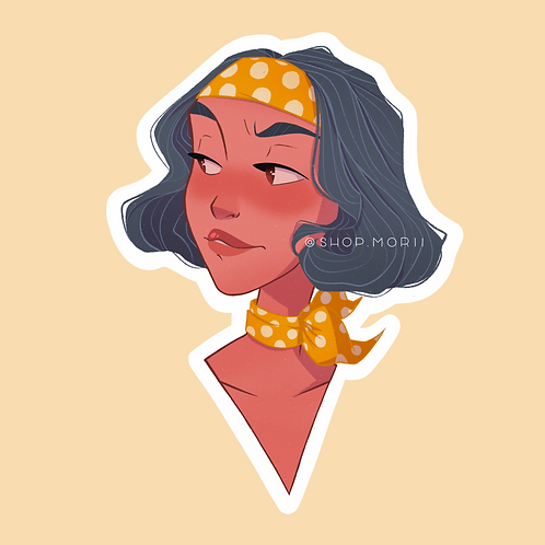 Autumn Vibes Sticker (@agnesillustrates)