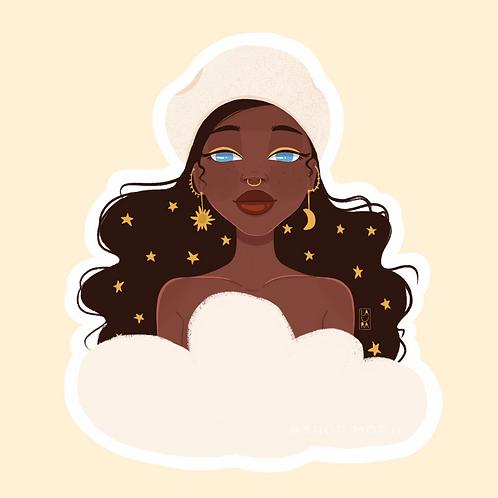 Black Stars Sticker (@laura.m.dumitriu)
