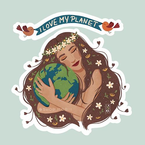 I Love My Planet Sticker (@laura.m.dumitriu)