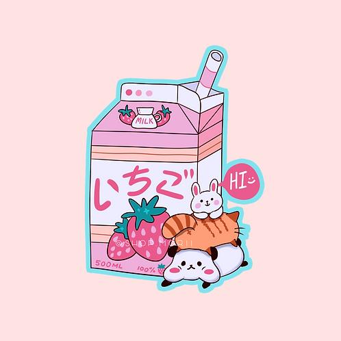 Ichigo Milk Sticker (@_pandoodle)