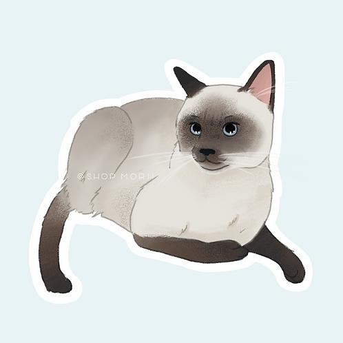 Siamese Cat 1 Sticker (@pastel.shark)