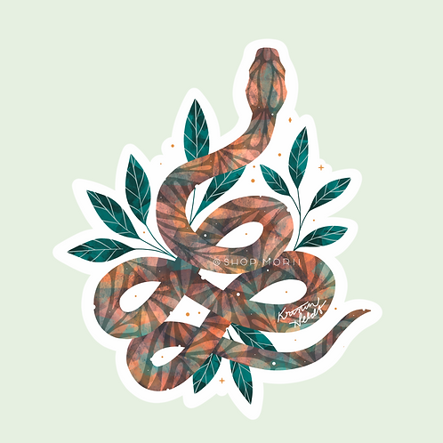 Rainbow Snake Sticker (@kristinheldtart)