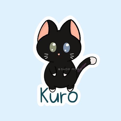Kuro Cat Sticker (@paintsbytee)
