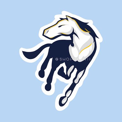 University Horse Sticker