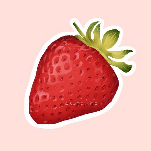 Strawberry Fruit Sticker (@vrpspam)