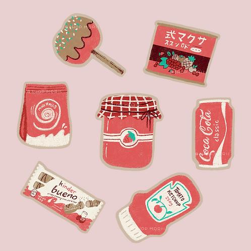 Foodie Series: Red! Sticker Pack (@_pandoodle)
