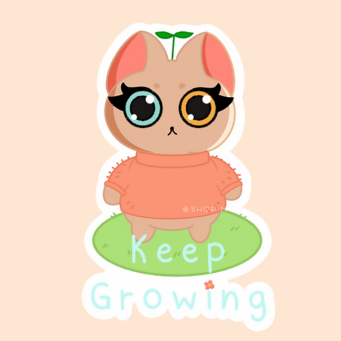 Keep Growing Sticker (@teesstudioco)