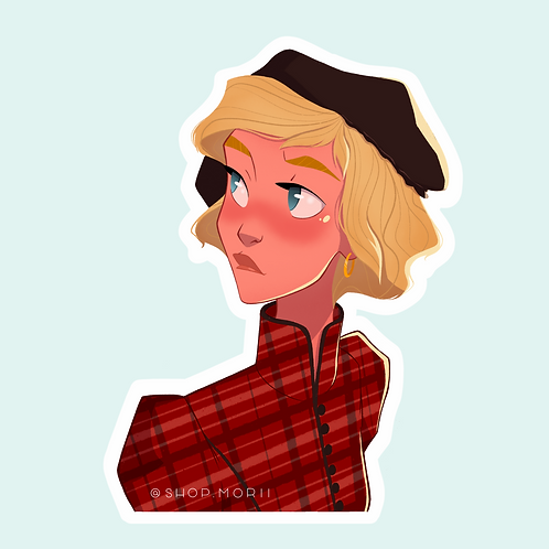 """Diana"" Sticker (@agnesillustrates)"
