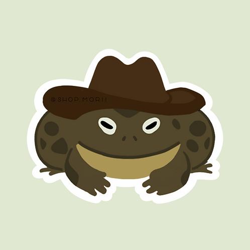 Cowboy Frog Sticker (@plumallard)