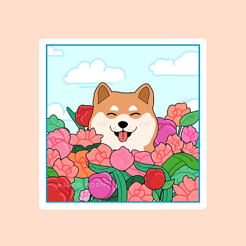 Shiba Flower Sticker (@aiceebz)