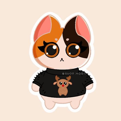 Ugly Sweater Kat Sticker (@paintsbytee)