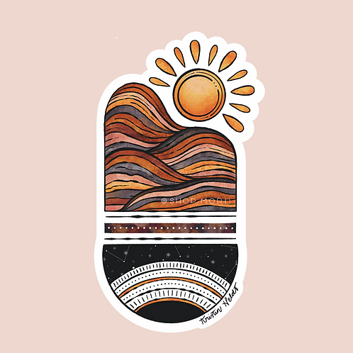 Sun Mountain Balance Sticker (@kristinheldtart)