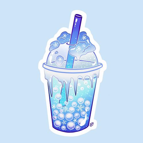 Snowflake Boba Sticker (@heysoleilart)