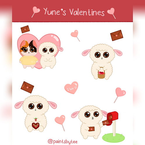 Yune's Valentines Sticker Sheet (@teesstudioco)