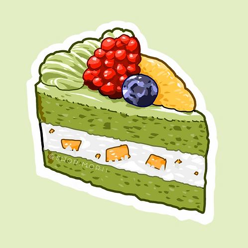 Green Tea Cake Sticker (@lessonguy)