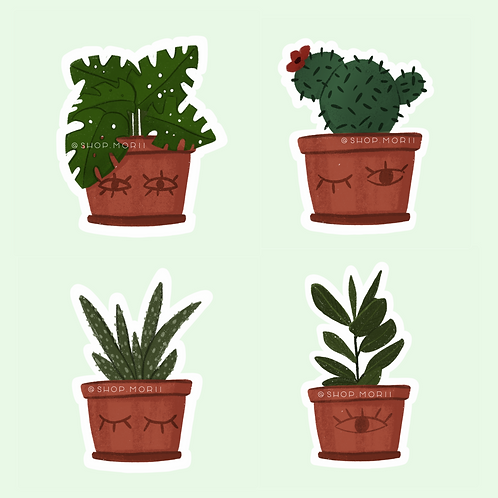 Plants Sticker Pack (@laura.m.dumitriu)