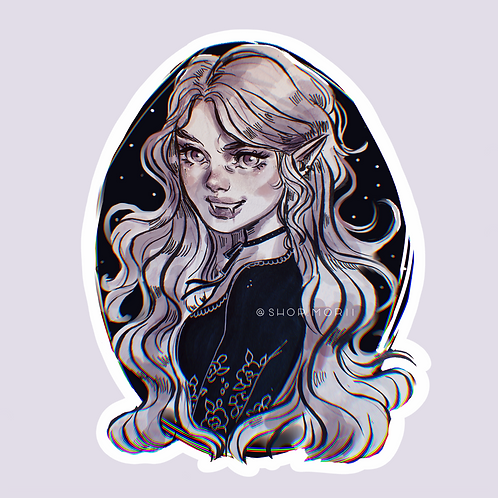 Inktober 2020 Vampire Sticker (@smoustart)