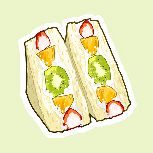 Fruit Sandwich Sticker (@lessonguy)