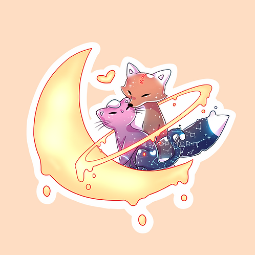 """KitKat """"I Love You to the Moon and Back"""" Sticker (@catface.exe)"""