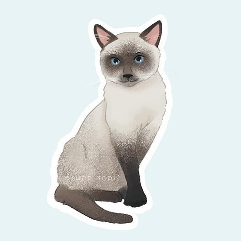 Siamese Cat 2 Sticker (@pastel.shark)