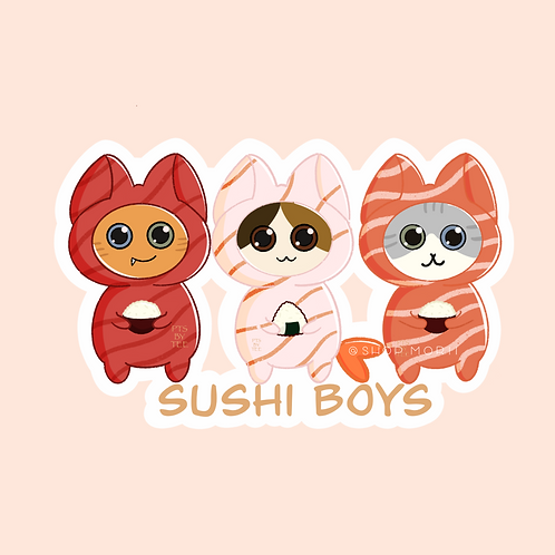 Sushi Cats Sticker (@teesstudioco)