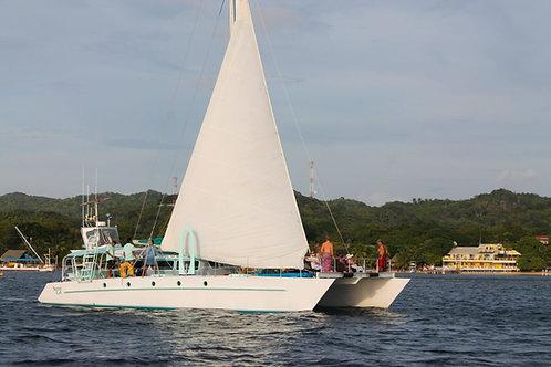 Private Catamaran Sailing - Roatan (Guns and Hoses Exclusive)