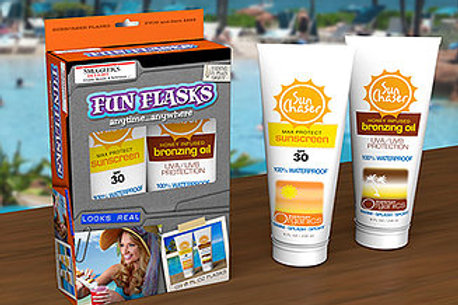 Double Pack of Sun Screen Bottle Flasks