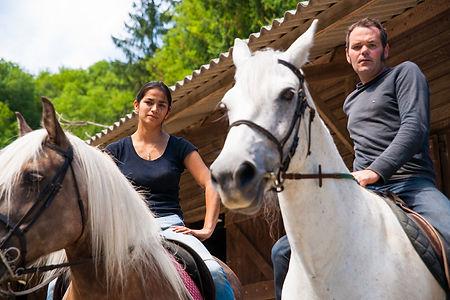 L'Etrier de la Montagne Noire - Equitation de loisir et d'extérieur - Pension - Débourrage – Attelage /  Les Cammazes, dans le département du Tarn, au cœur du parc naturel régional du Haut-Languedoc