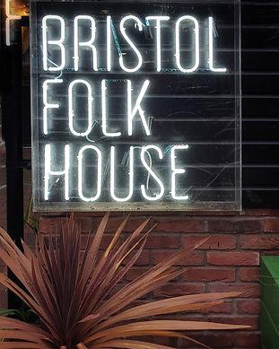 The Bristol Folk House Sign.