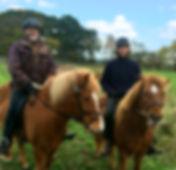 Per & hans yngste søn Anders på islandsk hesteryg i Hannenov skoven