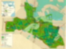 Landkort over området Eskildstrup, Borremosen, Hannenov skoven, Eskildstrup og Guldborgsund