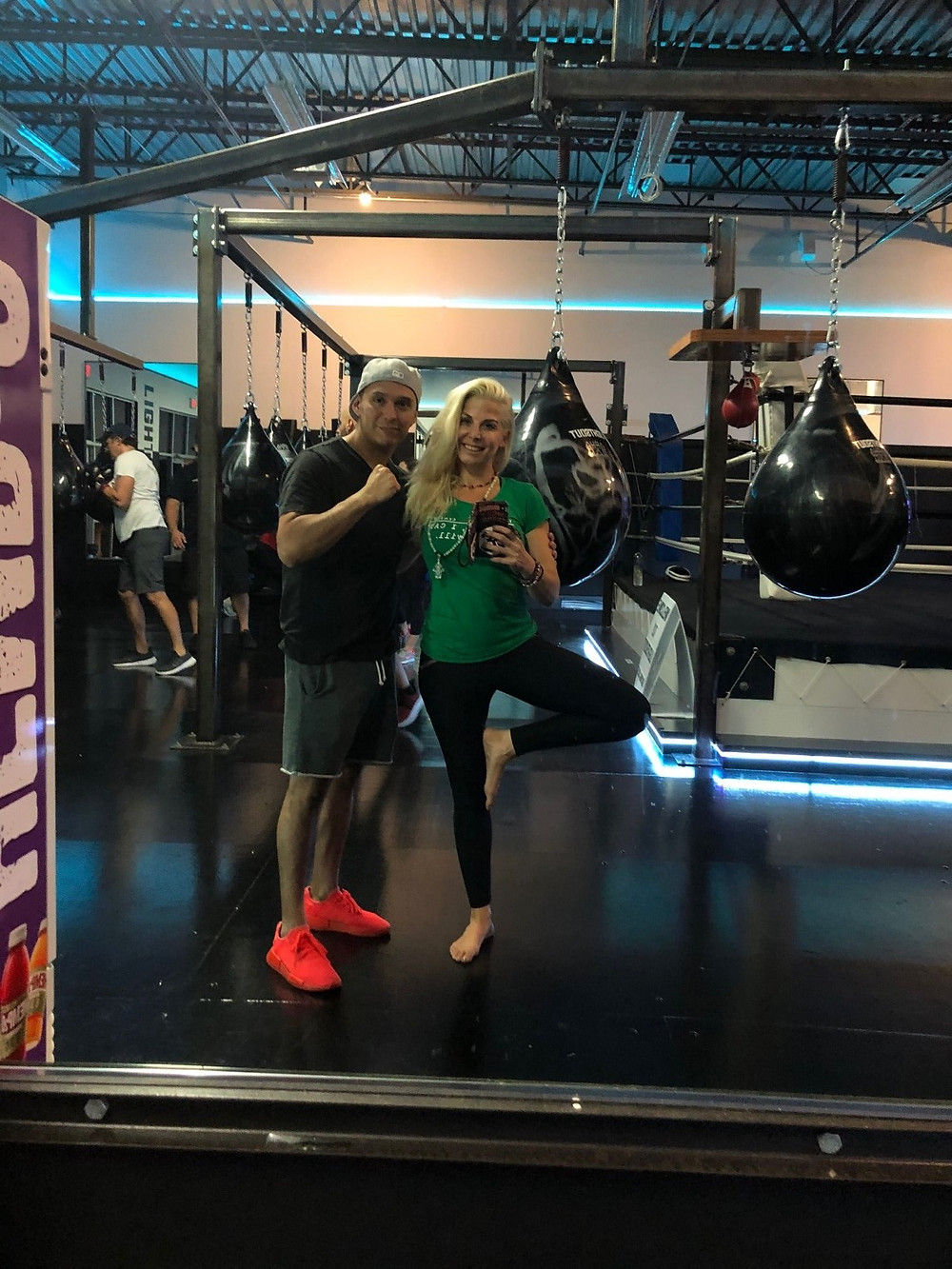 boxing and yoga with Dr. Lauren Leiva lights out boxing