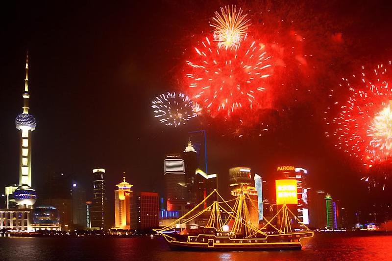 Fireworks in Lujiazhui
