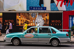 VW Santana Taxi in Nanjing Road