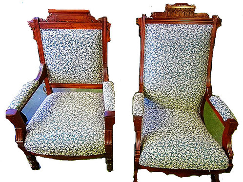 This Pair Of Eastlake Style Chairs Dates To 1908 And Have Been In The Same  Family Since That Date, Over 107 Years! The Chairs Were Originally  Purchased To ...
