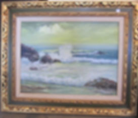 Framed Ocean Painting