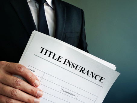 A Standard Policy of Title Insurance Covers All Except...