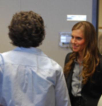 Carol Dorn (dir) with Allison Williams (L) and Michele Balen (C)