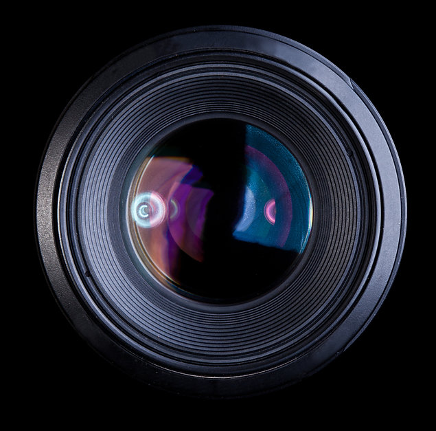 Camera Lens only isolated on black backg