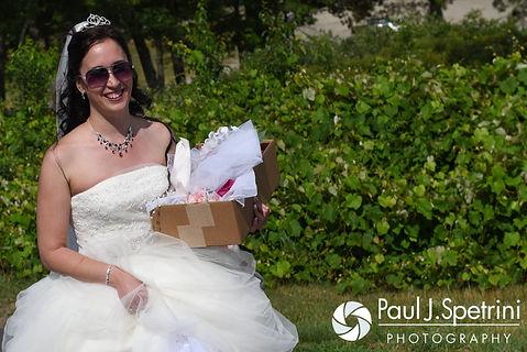 Amanda arrives to her summer wedding at the Quabbin Reservoir Observation Tower in Belchertown, Massachusetts on July 2nd, 2016.