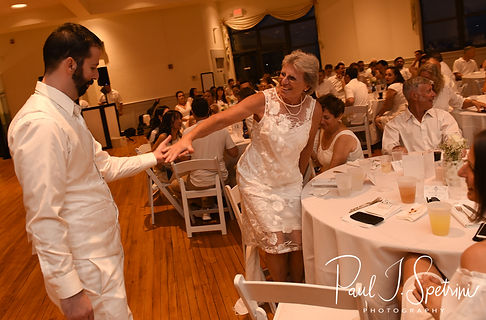 Mike and his mother dance during his August 2018 wedding reception at The Rotunda Ballroom at Easton's Beach in Newport, Rhode Island.