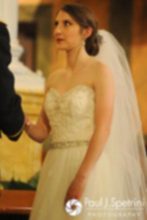 Simonne looks at Dan during their June 2016 wedding in Providence, Rhode Island.